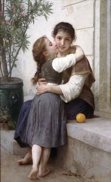 William Bouguerau - Tatlı Sözle İkna (1890)